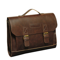 Hot Crazy Horse PU Leather Men Briefcase Brand Casual Men S Messenger Bag Male Laptop Bag