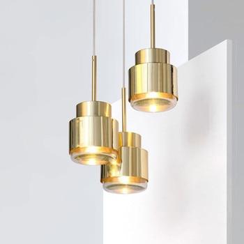Современные подвесные светильники металлические стеклянные золотые подвесные светильники hanglamp Nordic Art творческий дом гостиная столовая ку...