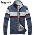 HEE GRAND Men's Fashion Cotton Sweaters Men Thick Long Sleeve Wool Cardigan Man Sweater Jacket Casual Knitted Cardigans MZL655