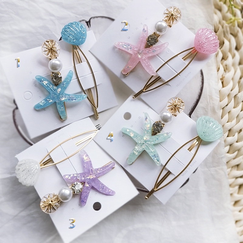 Ruoshui Woman Romantic Shell Hairpins Sets Starfish Hair Clips for Girls Women Hair Accessories Fashion   Headwear   Femme   Headwear