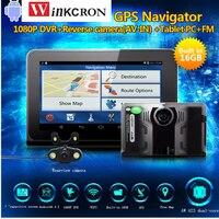 Best 7 дюймов Android gps навигатор автомобиля камера видеорегистратор с антирадары dvr видео регистраторы камера Встроенный 16 ГБ заднего вида бесп