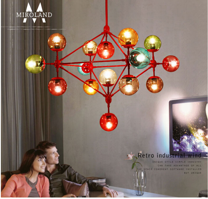 Jason miller magic 21 head led modo chandelier dna modo light chromatic colour glass ball led chandelier bar light free shipping