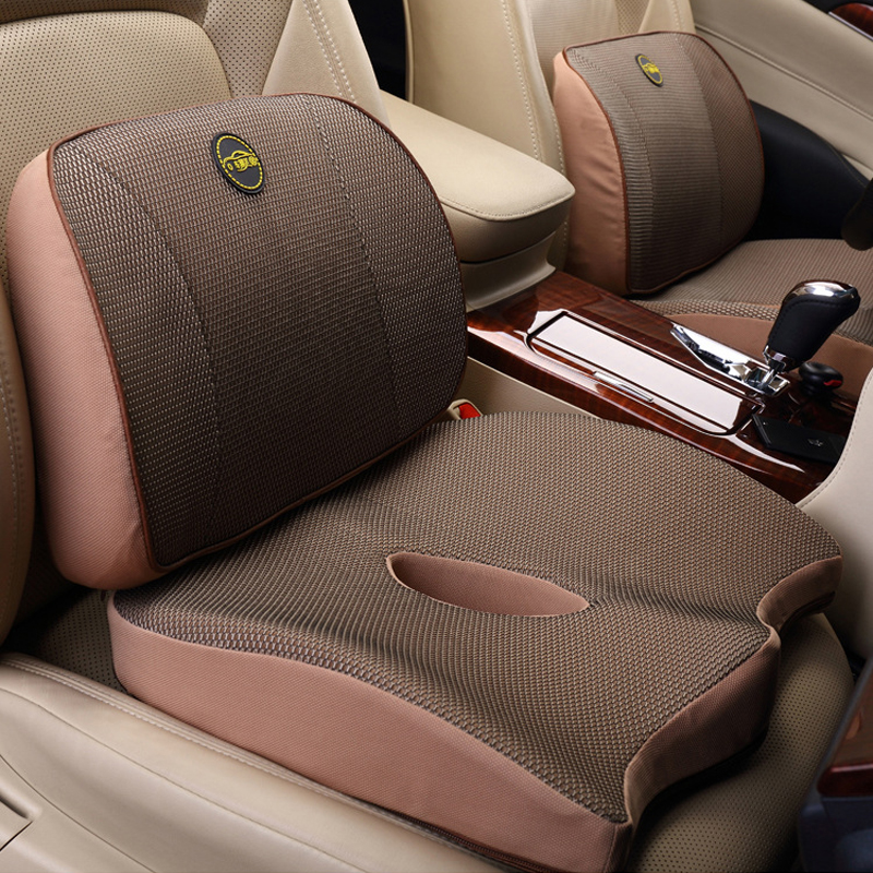 Car Back Massage Pillow Auto Seat Waist Cushion For BMW Golf Volvo Universal Lumbar Support Pillows For Chairs Car Accessories