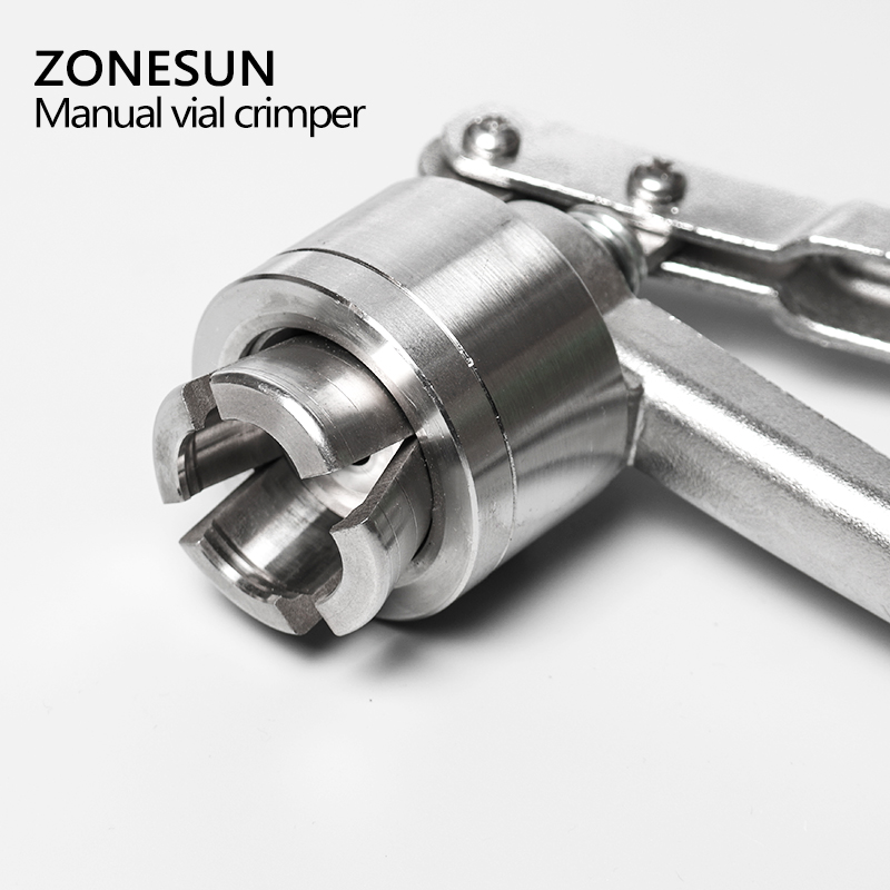 ZONESUN Manual vial crimper medical crimper bottle cap crimping tool Antibiotics bottle capper machine handheld capping machine