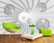 beibehang Personality classic fashion advanced decorative painting 3D stereo ball background wall wallpaper for walls 3 d tapety