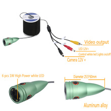 Original Brand Underwater Ice Fishing Camera kit Video Fish finder HD 1000TVL With DVR IR LED Infrared lamp 20/30m cable US