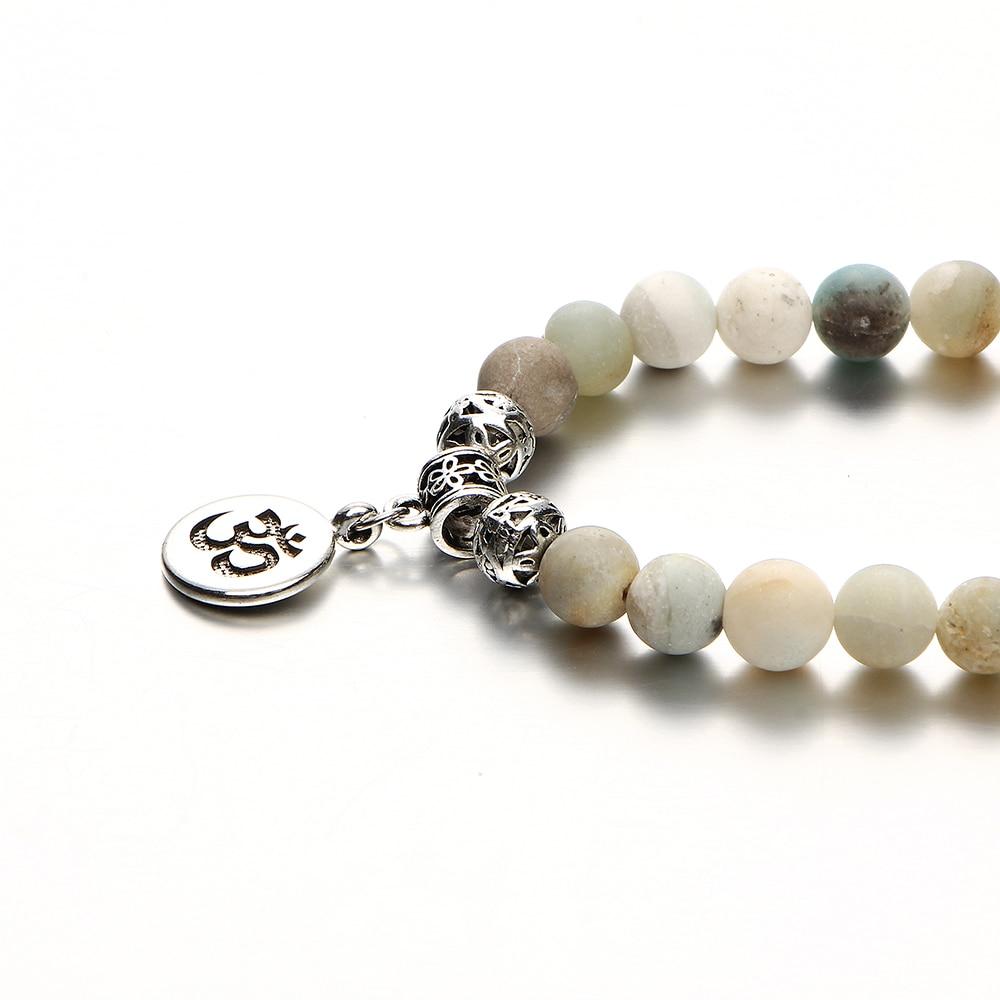 Women's Natural Stone Om Bracelet 4