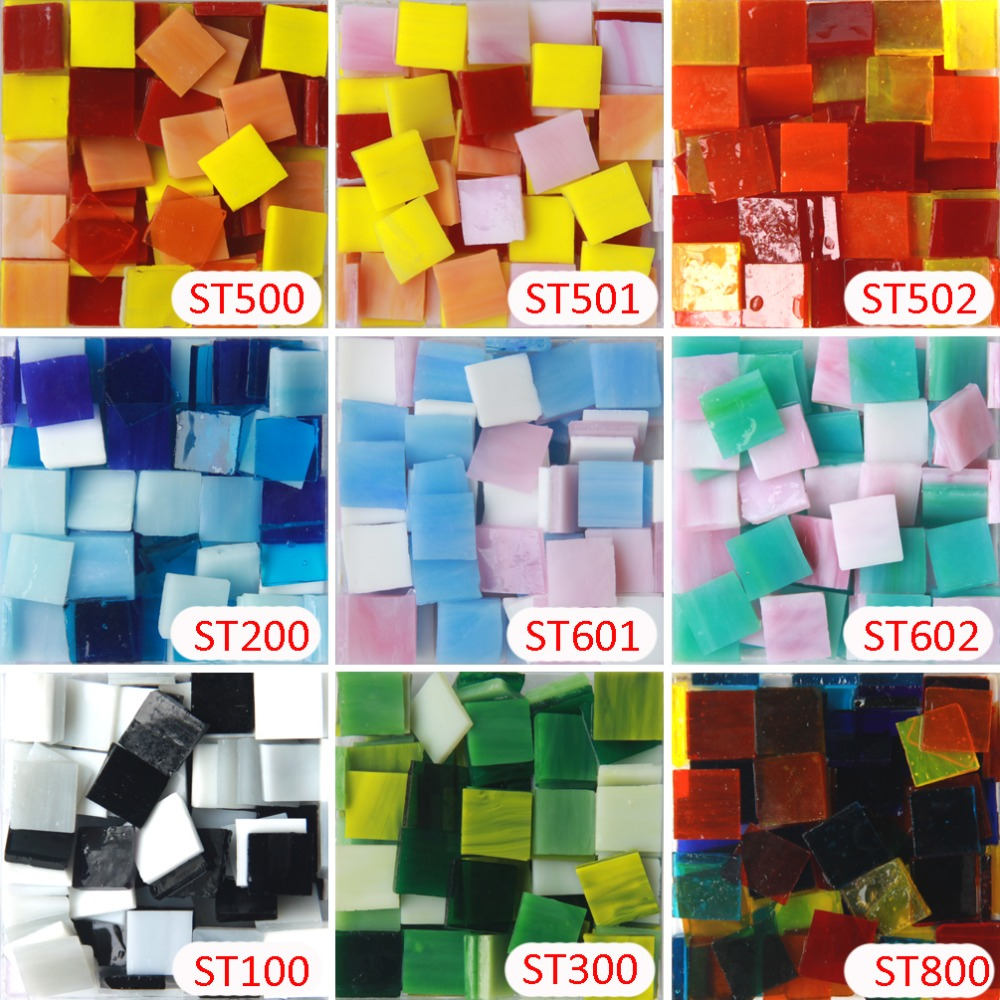 Mosaic glass tile for crafts - 200gram 135 Pcs 15x 15mm 9 16 Inch Mix Black White Stained Glass Strip Diy Glass Mosaic Hobbies Mosaic Glass Tiles For Crafts