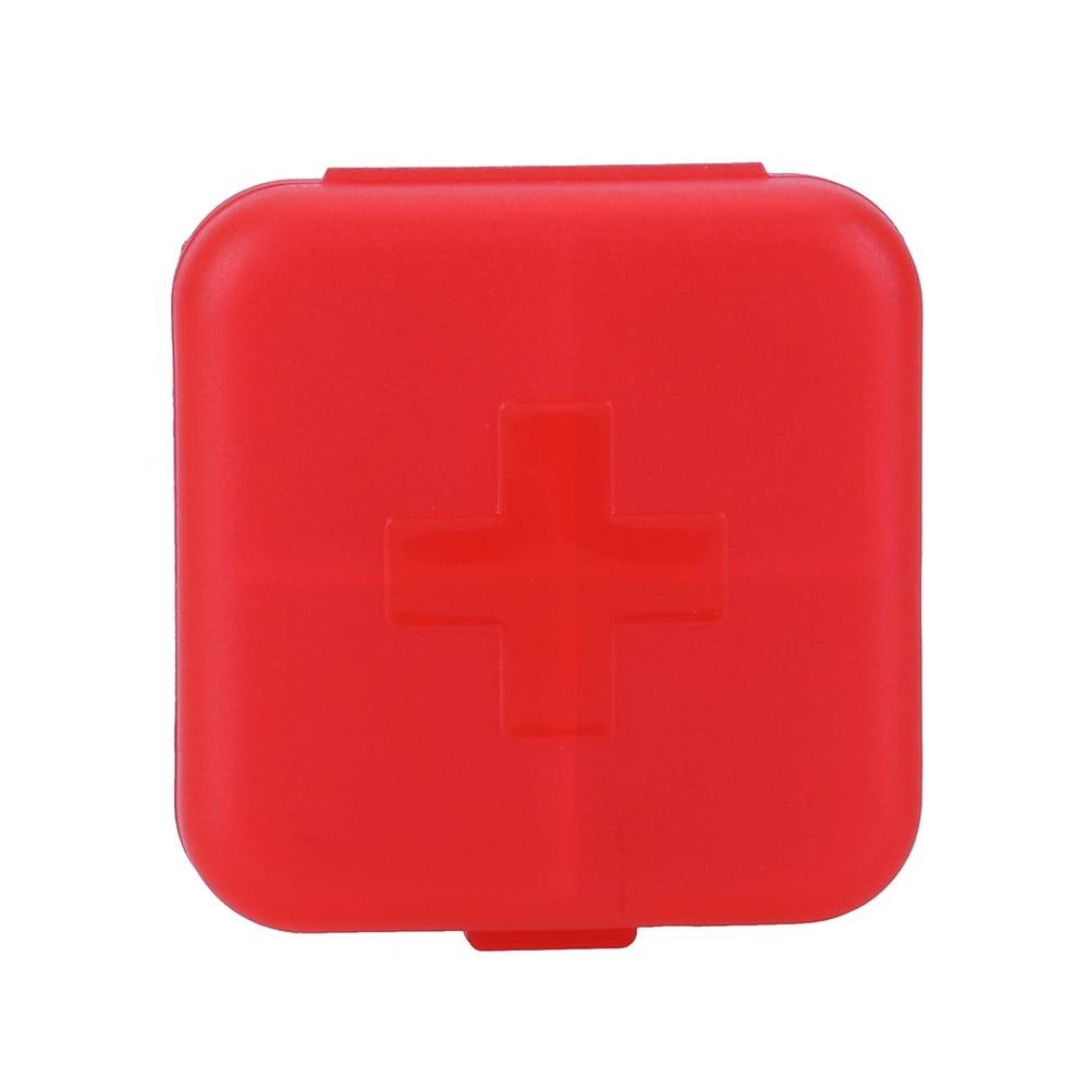 4 Slots Square Travel Pill Cases Outdoor Vitamin Cases Medicines Pill Box Portable Medicine Holder Pastillero 16
