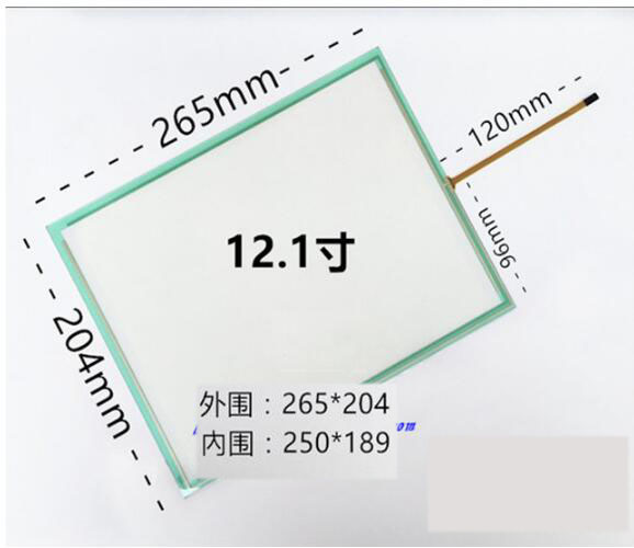 12.1 Inch 4 wire resistive touch screen 4:3 screen 265*204 amt 146 115 4 wire resistive touch screen ito 6 4 touch 4 line board touch glass amt9525 wide temperature touch screen