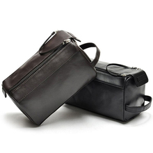 Mens Leather Admission Package Travel Bags