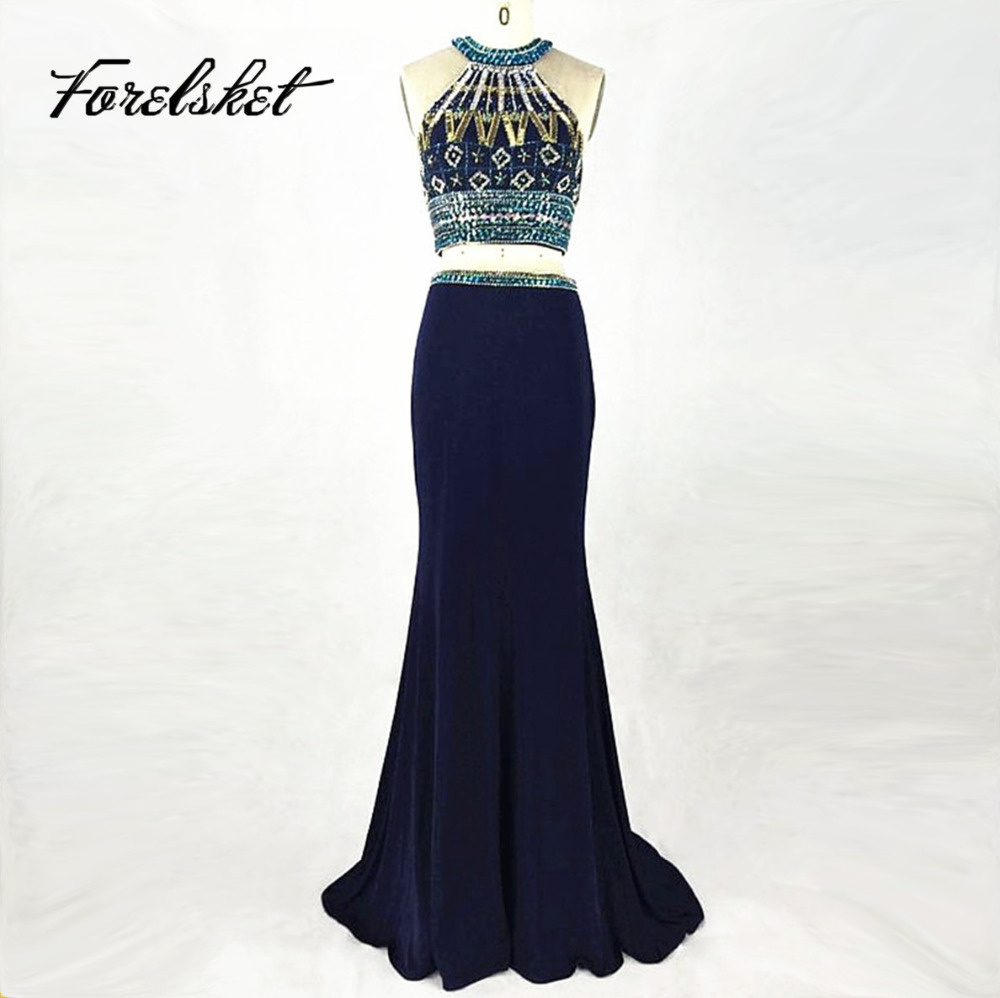 Hot sale two pieces prom dresses 2017 beautiful beaded for Cheap beautiful wedding dresses for sale