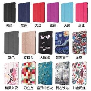 Image 5 - Funda de cuero con tapa para Samsung Galaxy Tab Advanced 2, protector con estampado de SM T583 de 10,1 pulgadas, funda con soporte para Samsung SM T583