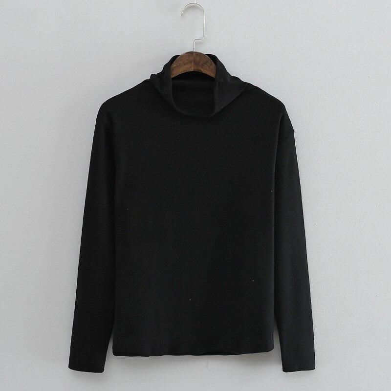 IUSGG Frauen Rollkragen Top Bawting Sleeveless T-shirt Schlank Baumwolle Modale Weste Weibliche T Solide Tops Weibliche Blusa Camiseta