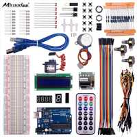 Miroad UNO R3 Project Super Starter Kit For Arduino DIY Mega 2560 Nano learning kits LCD Screen Breadboard Temperature sensorK65
