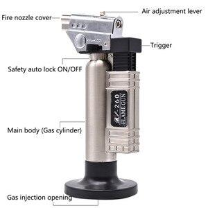 Image 4 - Gás butano dental micro tocha queimador de solda arma mais leve chama soldador à prova vento fonte fogo micro chama arma/isqueiro