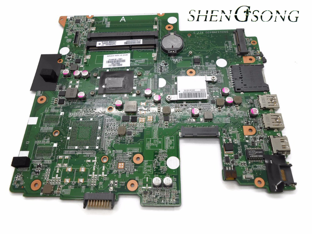 714618-001 714618-501 for HP Pavilion Sleekbook 14-B060 14-B laptop motherboard DA0U33MB6D0 I3-2367M CPU fully tested working 574680 001 1gb system board fit hp pavilion dv7 3089nr dv7 3000 series notebook pc motherboard 100% working