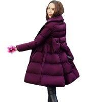 2017 Fashion Slim Down Jacket Female Waist Long Outerwear Thicken Warm Winter Women S Padded Cape