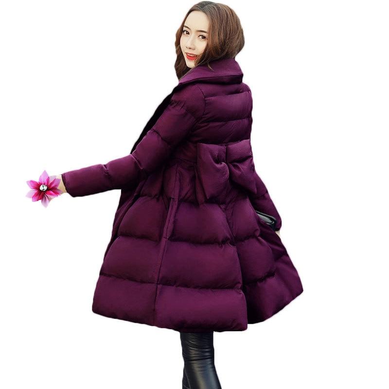 Long Femmes Chaud Z104 Vers Mince Taille Hiver Manteau Bas De Cape Veste Mode Red Épaississent purple Le Rembourré Parkas black Purple Femme 2018 Survêtement waq8H5