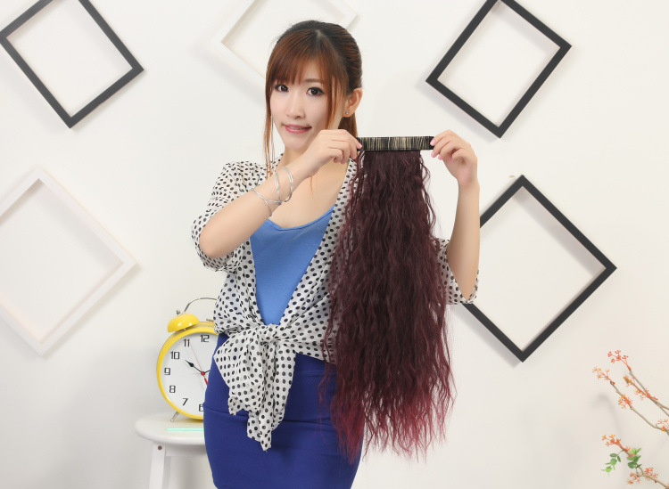 Good quality hairwear 100g 55cm synthetic hair jewelry extension curly hair accessories for fashion womens ponytails