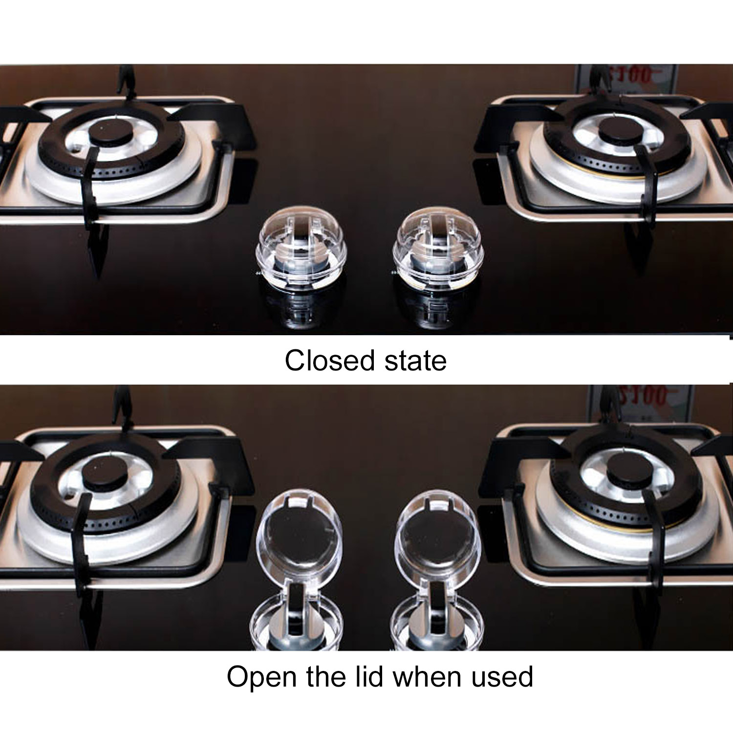 6 Pcs Kitchen Gas Stove Knob Covers Oven Knobs Protector Child Safety Locks