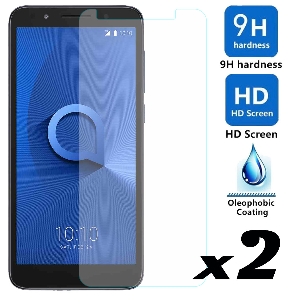 2pcs Tempered Glass Screen Protector Explosion-proof Protective Front Films For Alcatel 1X Evolve/IdealXtra 5059R/TCL LX A502DL