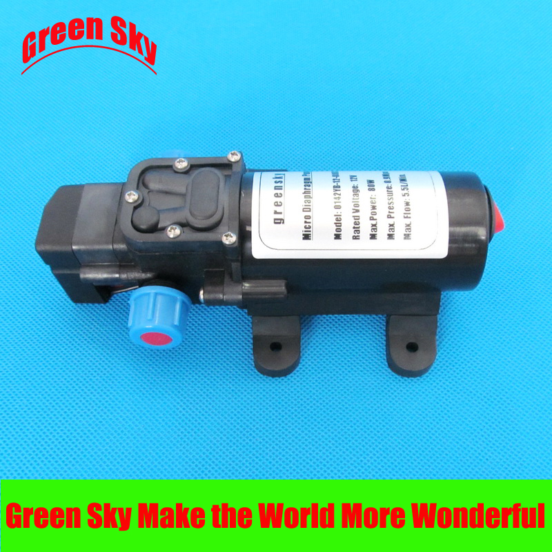 цена на 5.5l/min 80w dc automatic pressure switch type with on/off button and socket priming diaphragm pump spray motor 12v