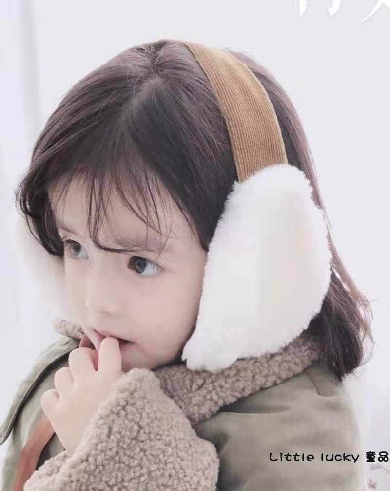 Children's Autumn And Winter Earmuffs Bow Softness Warm And Comfortable Girls Kid Warm