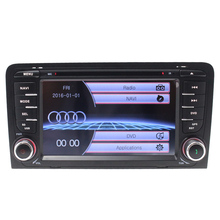 Double din 1080P Car DVD Player for Audi A3/S3 Quad Core 800*480 GPS Navigation with Radio Bluetooth RDS USB SWC free map