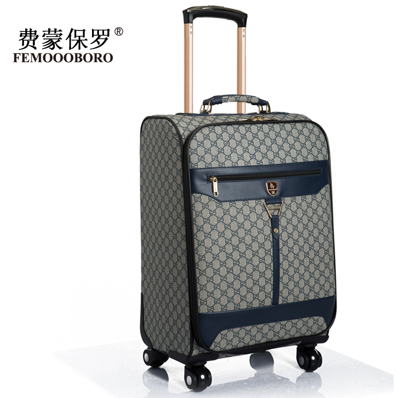 Universal wheels trolley luggage male commercial16 20 24 luggage ...