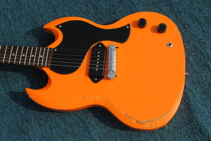 color orange p90 collecting relic heritage collector guitar electric guitar 400 make old all. Black Bedroom Furniture Sets. Home Design Ideas