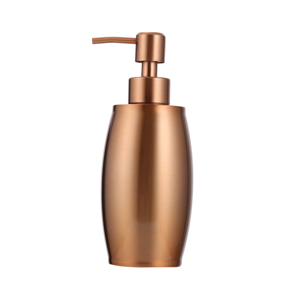 Stainless Steel Liquid Hand Soap Dispenser Rose Gold Pump Bottle Kitchen Bathroom Hand Lotion & Essential Oils Bottle