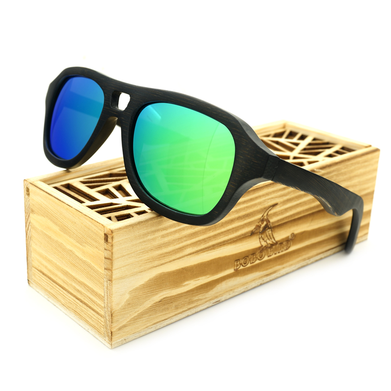 060bbf4ca55bcd BOBO BIRD Vintage Wood Sunglasses Mens 100% Natural Bamboo Wood Polarized  Eyewear In Gift Box-in Sunglasses from Apparel Accessories on  Aliexpress.com ...