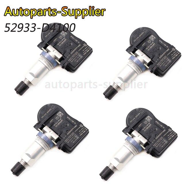 4 stücke 52933 D4100 433MHZ TPMS Reifendruck Überwachung Sensor Für Hyundai Kia NIRO Optima Sportage Sorento 52933D4100