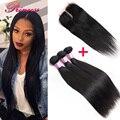 Peruvian Virgin Hair With Closure 3 Bundles Peruvian Straight Hair With Closure Unprocessed Virgin Peruvian Hair With Closure