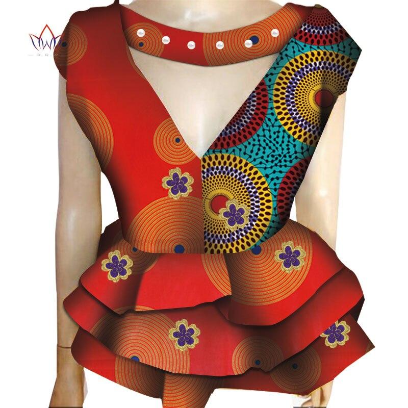 2019 BintaRealWax africain imprimé mode veste femme printemps décontracté hauts africain coloré Ankara Batik femmes vêtements WY3906