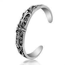 Fashion jewelry titanium steel bracelet,Punk cross classic bracelet.Titanium steel accessories bangles