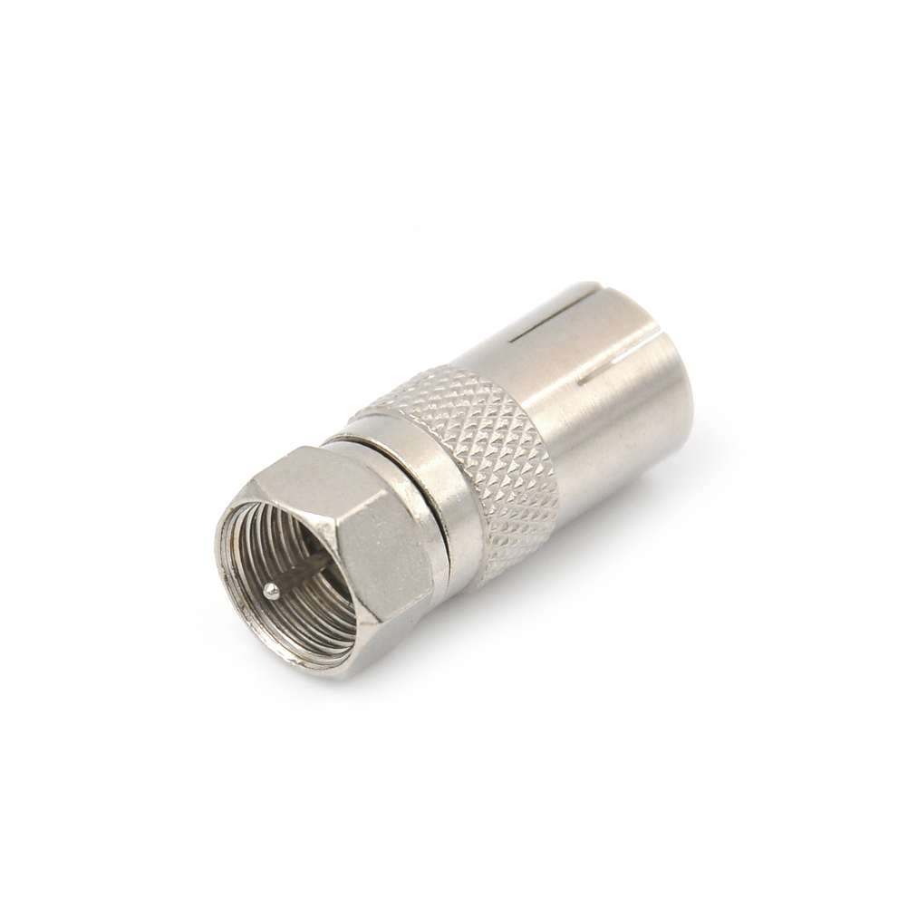 1Pc F-Type F male plug to F male plug straight Coupler adapter Coax TV connector