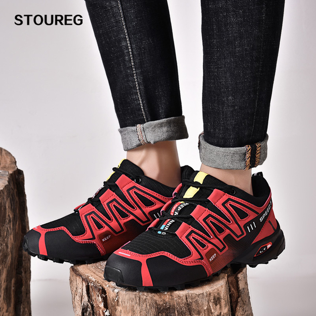 7 Colors Men's Sneakers Outdoor Hiking Shoes Waterproof Trekking Walking Shoes Male Hiking Boots 39-47