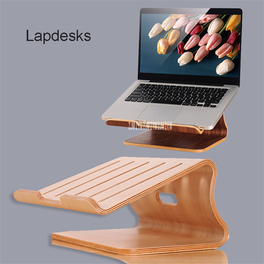 008 wooden laptop cooling stand high quality wooden stand for font b Apple b font font