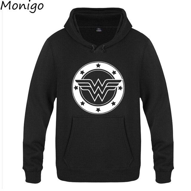 2017 Hot Wonder Woman Hoodie Casual Sweatshirts Unisex Jacket Coat Wonder  Women Logo
