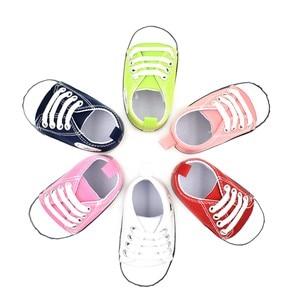 Классические парусиновые Нескользящие туфли для новорожденных мальчиков и девочек