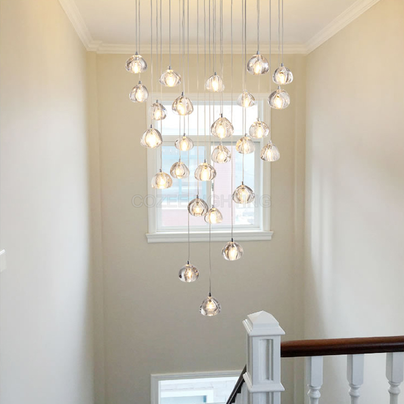 brand new 112a0 ce3e0 US $9.98 50% OFF|Modern Ceiling Chandelier Lights For Living Dining Room  Bedroom Led Home Lighting Stair Crystal Chandelier Drop Lighting Fixture-in  ...