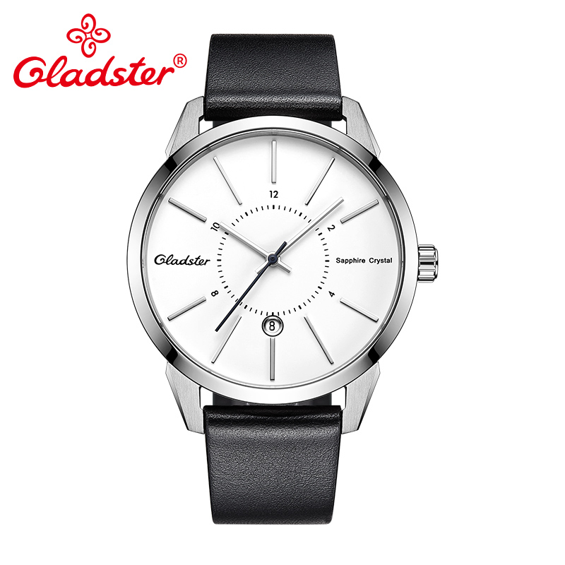d06d18f7785 Gladster Luxury Japan MIYOTA2115 Fashion Leather Watch Waterproof Sports  Wristwatch Sapphire Crystal Calendar Male Quartz Clock