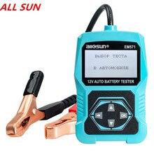 ALL-SUN EM571 12 в автомобильный тестер батареи 3 в 1 Многофункциональный контрольный метр Цифровой Анализатор диагностический