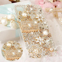 Luxury Case Cover For For IPhone 4s 5s 6s 6 Plus Rhinestone Crystal Mobile Phone Cover