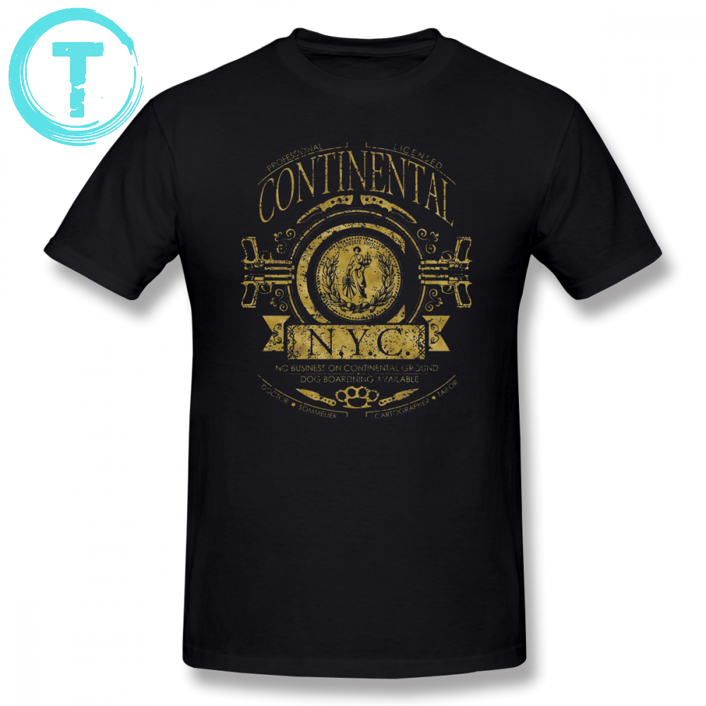 John Wick T Shirt T-Shirt Dos Homens T Ocasional Camisa Continental-Fun Gráfico XXX Algodão de Manga Curta Tshirt