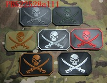 3D Pvc Patch Devgru Tim SEAL Black Jack Bendera Bajak Laut Militer Taktis Moral(China)