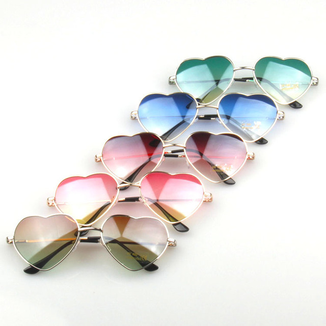 a4da9044bb New Pink Heart Shaped Sunglasses Women Metal Frame Reflective Mirror Lens  Easter Day Sun Glasses Lady oculos de sol W1
