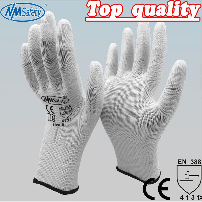 NMSAFETY PU ESD Work Gloves Nylon PU Gloves ESD Working Gloves PU Anti Static Work Gloves